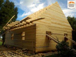 Строительство дома из бруса в деревне Павловское   фаза 12