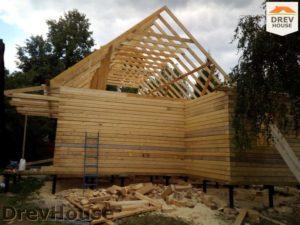 Строительство дома из бруса в деревне Павловское   фаза 13
