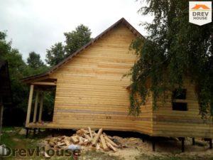 Строительство дома из бруса в деревне Павловское   фаза 14