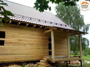 Строительство дома из бруса в деревне Павловское   фаза 15