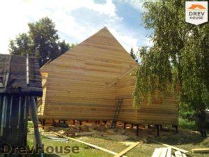 Строительство дома из бруса в деревне Павловское   фаза 16