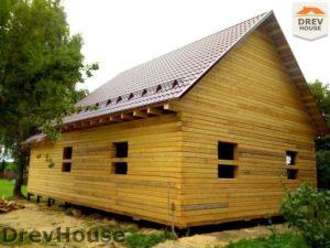 Строительство дома из бруса в деревне Павловское   фаза 18