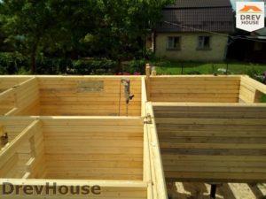 Строительство дома из бруса в деревне Павловское   фаза 2