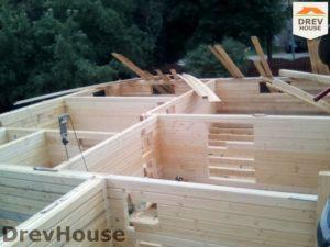 Строительство дома из бруса в деревне Павловское   фаза 3