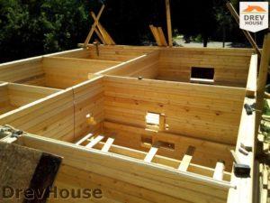 Строительство дома из бруса в деревне Павловское   фаза 4