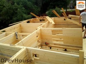 Строительство дома из бруса в деревне Павловское   фаза 5