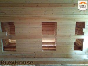 Строительство дома из бруса в деревне Павловское   фаза 8