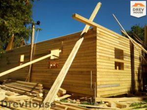 Строительство дома из бруса в деревне Павловское   фаза 9