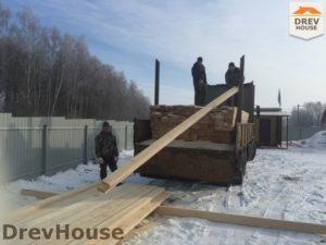 Строительство дома из бруса в деревне Поповка   фаза 1