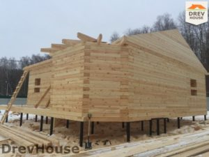 Строительство дома из бруса в деревне Поповка   фаза 10