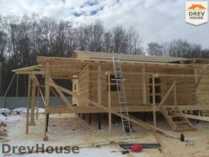Строительство дома из бруса в деревне Поповка   фаза 11