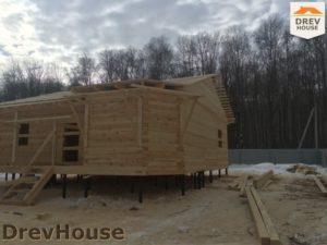 Строительство дома из бруса в деревне Поповка   фаза 12