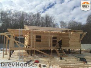 Строительство дома из бруса в деревне Поповка   фаза 13