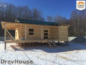 Строительство дома из бруса в деревне Поповка   фаза 15