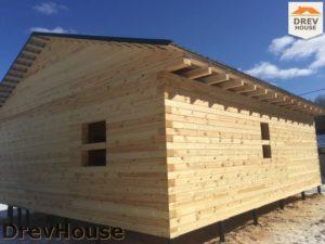 Строительство дома из бруса в деревне Поповка   фаза 16