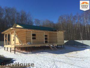 Строительство дома из бруса в деревне Поповка   фаза 17