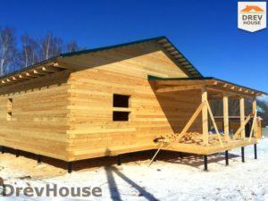 Строительство дома из бруса в деревне Поповка   фаза 18