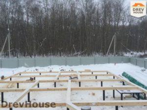 Строительство дома из бруса в деревне Поповка   фаза 3