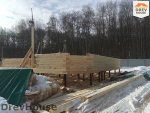Строительство дома из бруса в деревне Поповка   фаза 4