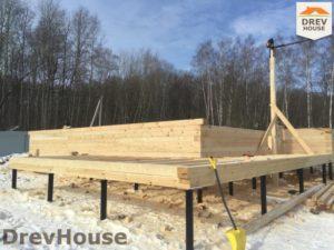 Строительство дома из бруса в деревне Поповка   фаза 5
