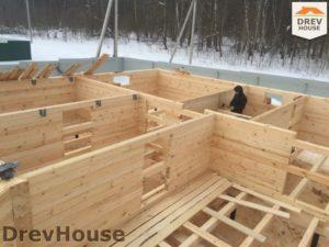 Строительство дома из бруса в деревне Поповка   фаза 6