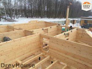 Строительство дома из бруса в деревне Поповка   фаза 7