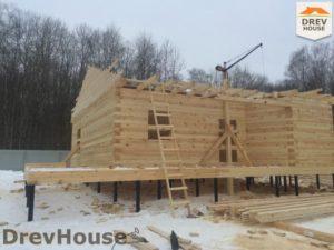 Строительство дома из бруса в деревне Поповка   фаза 8