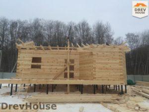 Строительство дома из бруса в деревне Поповка   фаза 9