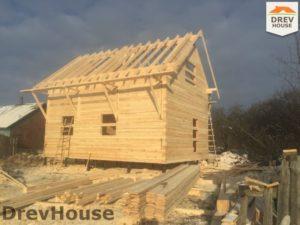 Строительство дома из бруса в деревне Потаповское   фаза 10