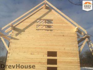 Строительство дома из бруса в деревне Потаповское   фаза 11