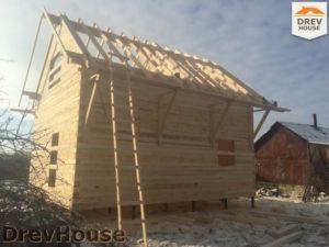 Строительство дома из бруса в деревне Потаповское   фаза 12