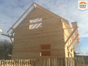 Строительство дома из бруса в деревне Потаповское   фаза 13