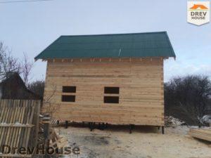 Строительство дома из бруса в деревне Потаповское   фаза 16