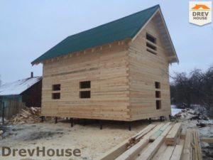 Строительство дома из бруса в деревне Потаповское   фаза 17