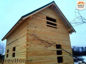 Строительство дома из бруса в деревне Потаповское   фаза 18