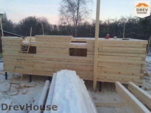 Строительство дома из бруса в деревне Потаповское   фаза 3