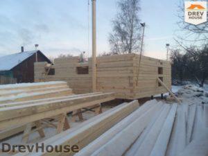 Строительство дома из бруса в деревне Потаповское   фаза 4