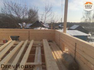 Строительство дома из бруса в деревне Потаповское   фаза 5