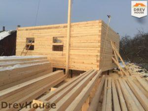 Строительство дома из бруса в деревне Потаповское   фаза 6