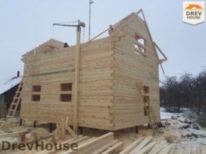 Строительство дома из бруса в деревне Потаповское   фаза 7
