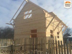 Строительство дома из бруса в деревне Потаповское   фаза 8