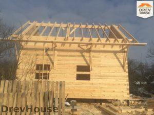 Строительство дома из бруса в деревне Потаповское   фаза 9