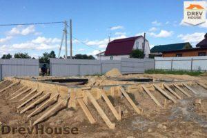 Строительство дома из бруса в деревне Сергеево   фаза 2