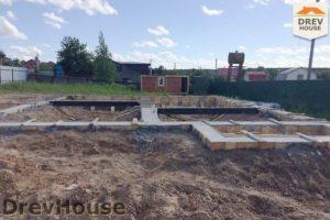 Строительство дома из бруса в деревне Сергеево   фаза 4