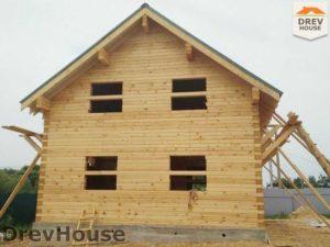 Строительство дома из бруса в деревне Сергеево   фаза 8