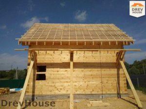Строительство дома из бруса в деревне Сергеево   фаза 9