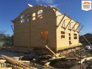 Строительство дома из бруса в деревне Володькино   фаза 10