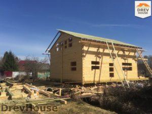 Строительство дома из бруса в деревне Володькино   фаза 11