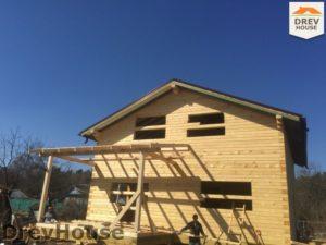 Строительство дома из бруса в деревне Володькино   фаза 13