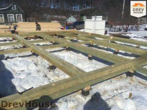 Строительство дома из бруса в деревне Володькино   фаза 2